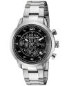 Men's Monaco Stainless Steel Bracelet Watch With Black Dial