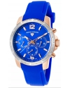 Women's Legasea Quartz Stainless Steel And Silicone Casual Watch Color Blue