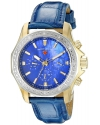 Women's  Islander Stainless Steel Watch With Blue Band