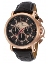 Men's 'Triomf' Quartz Stainless Steel And Leather Automatic Watch Color Black