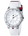 Women's Stainless Steel Watch With White Silicone Band