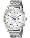 Men's Sport Lux Silver Tone Stainless Steel Watch