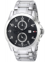 Men's Classic Stainless Steel Black Subdial  Watch