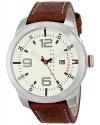 Men's Analog Display Quartz Brown Watch