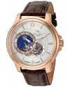 Men's Nebula Stainless Steel And Leather Automatic Watch Color Brown