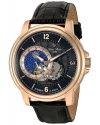 Men's Nebula Stainless Steel And Leather Automatic Watch Color Black