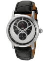 Men's Santorini Quartz Stainless Steel And Leather Automatic Watch Color Black