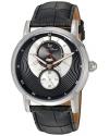 Men's Santorini Quartz Stainless Steel And Leather Automatic Watch Color Black