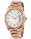 Men's Excalibur Silver Textured Dial Rose Gold Lon Plated Stainless Steel Watch