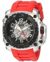 Men's The General Prime Stainless Steel And Silicone Automatic Watch Color Red