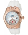 Women's Genesis Vision Swiss Quartz Stainless Steel And Silicone Automatic Watch Color White