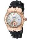 Women's Genesis Vision' Swiss Quartz Stainless Steel and Silicone Automatic Watch Color Black (Model: 20029-RG-0