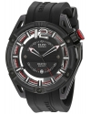 Men's Master Ghost Swiss Quartz Stainless Steel And Silicone Automatic Watch Color Black