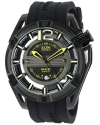 Men's Master Ghost Swiss Quartz Stainless Steel And Silicone Automatic Watch Color Black (Mo