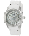Women's Spirit Swiss Quartz Stainless Steel And Silicone Automatic Watch Color White