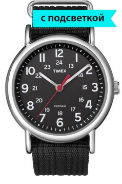 Timex Weekender Slip Thru Black/Black Watch