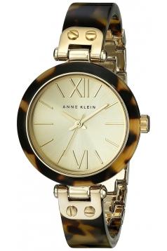Women's Gold Tone Tortoise Shell Plastic Bracelet Watch