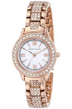 Women's Swarovski Crystal Accented Rose Gold Tone Bracelet Watch