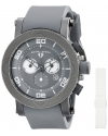 Men's Cyclone Analog Display Swiss Quartz Grey Watch