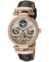 Men's Magistrate 18k Rose Gold Layered Automatic Watch With Leather Band