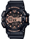 Men's G-Shock Black And Rose Gold Tone Dial Resin Quartz Watch