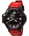 Men's G-Shock Aviation Black Dial Red Resin Quartz Watch