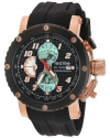 Men's GTO Quartz Stainless Steel And Silicone Automatic Watch Color Black