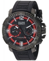Men's Arena Swiss Quartz Stainless Steel And Silicone Automatic Watch Color Black