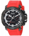 Men's Arena Swiss Quartz Stainless Steel And Silicone Automatic Watch Color Red