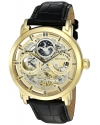 Men's Legacy Automatic Stainless Steel And Leather Dress Watch Color Black