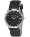 Men's Classic Ascot Newberry Quartz Super Slim Black Leather Strap Watch