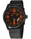 Men's Tuskegee Skymaster Automatic Black/Orange Watch