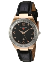 Women's Passionata Quartz Stainless Steel And Leather Automatic Watch Color Black