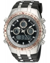 Men's Quartz Metal And Rubber Casual Watch Color Black