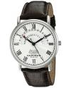 Men's Round Silver Dial Three Hand Quartz Stainless Steel Strap Watch