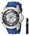 Men's Zolara 360 Automatic Skeleton Sport Watch with Rubber Strap Set
