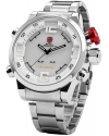 Men's Sport LED Watch Day And Date Stainless Steel Bracelet