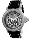 Men's Disney Limited Edition Swiss Quartz Stainless Steel And Leather Casual Watch Color Black