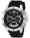 Men's Sport Quartz Metal And Rubber Casual Watch Color Black