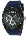 Men's Sport Quartz Metal And Rubber Casual Watch Color Blue