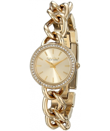 Women's 44L152 Analog Display Japanese Quartz Yellow Gold Watch