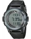 Men's Vertical Camo Black Grey Digital Display Watch