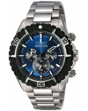 Men's Aviator Analog Display Swiss Quartz Silver Watch