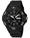 Men's Diver Style Quartz Resin Casual Watch Color Black