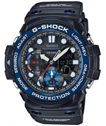 Men's G-Shock Master of G Smoke Dial Resin Quartz Watch GN1000B-1A