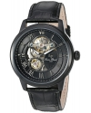 Men's Optima Stainless Steel And Leather Automatic Watch Color Black