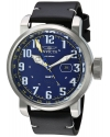 Men's Aviator Swiss Quartz Stainless Steel And Leather Casual Watch Color Black
