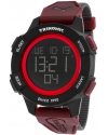 Men's Trinomic Red Digital Display Watch