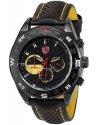 Fashion Black Leather Steel Case Army Sport Quartz Wrist Watch