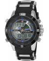 Men's Army Sport Wrist Watch Dual Time LCD Alarm Chronograph
